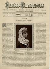 Goupil, France, Camées Artistiques, Marguerite Ugalde vintage print Photoglypt