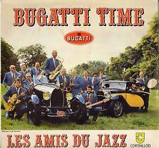 """LES AMIS DU JAZZ """"BUGATTI TIME"""" JAZZ LP SONORDISC 30-049 CAR COVER !"""