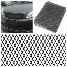 100*30cm Rhombus Style High Quality Aluminium Vehicle Grille Mesh Vent Net Black