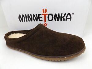 Minnetonka 41012 Taylor Men Comfort Slipper Size 8.0 M Chocolate Suede NEW 21547