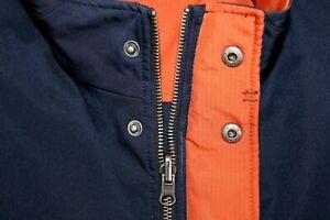 SAKS FIFTH AVENUE Men's L Reversible Navy & Orange Nylon Vest