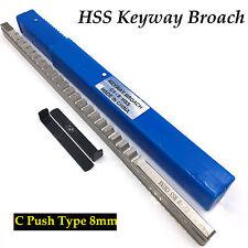8mm Keyway Broach Cutter C Push Type Cutting Tool & Shim CNC Metalworking