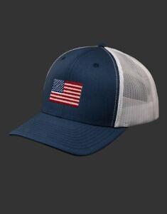 Scotty Cameron 2021 U.S. Open Hat- USA Patriot Flag- Mesh Snapback- Navy/White