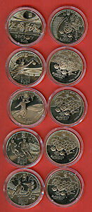 UKRAINE 5 Hruven 2011 EURO 2012 FOOTBALL Ukraine Poland Sport UEFA SET 5 pc. UNC