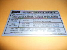 1970 1/2 FORD FALCON 351C 2V ENGINE EMISSIONS DECAL