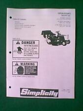 SIMPLICITY TRACTOR VACUUM COLLECTOR BLOWER 1691260 BAGGER 1691186  MANUAL