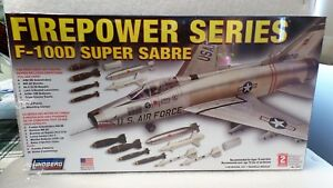 F-100 D Super Sabre Jet Aircraft - by Lindberg 1:48 scale Plastic Kit 72521