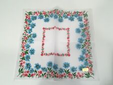 New Floral Handkerchief Pink Blue Red Window Decor Quilting Fabric Cutter Craft