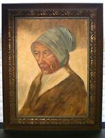 Impressionist Dutch School Style Portrait Painting