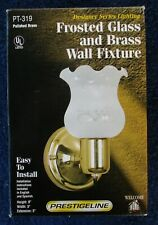 FROSTED GLASS & BRASS WALL LIGHT