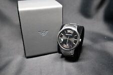 Armbanduhr Emporio Armani AR2457 Analog Herrenuhr Edelstahl schwarz silber
