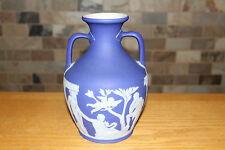 "Antique Wedgwood Dark Blue Jasper Ware 8"" Portland Vase (c.1840)"
