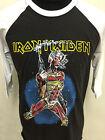 New vintage style 80s Iron Maiden metal baseball raglan t-shirt size S M L XL