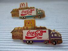2 Coca Cola  MC Donalds Truck Pins