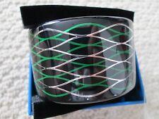 NIB Auth Kenzo H&M Black Geometric Wavy Motif Lucite Cuff Bracelet SOLD OUT!
