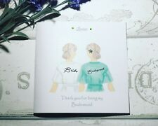 Thank You/Will you be my Bridesmaid/ Maid of Honour handmade Card - Personalised