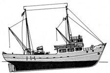 GIANNI M. Fischkutter. Modellbauplan