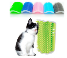 1 Pcs Cat Corner Brush For Long Hair Squeaky Face Massage Comb Comfortable Self