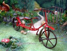 Miniature Bike / Bicycle for 2 Red 82000   Fairy Garden Dollhouse Terrarium