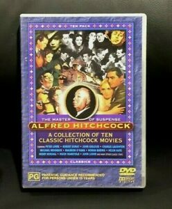 The Master Of Suspense : Alfred Hitchcock :A Collection Of 10 Classic Movies DVD
