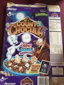 General Mills 1997 Count Chocula Casper Promo Cereal Box EMPTY