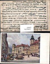 224687,Künstler AK Ernst Graner Wien 1 Freiung Markt Kirche