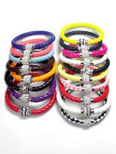 Rhinestone Leather Handmade Costume Bracelets