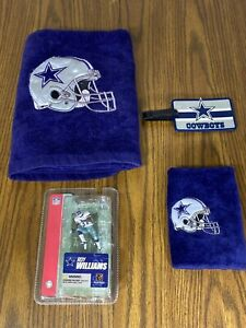 NFL Dallas Cowboys Novelty Junk Drawer Lot of 4 Collectibles Roy Williams,Towels