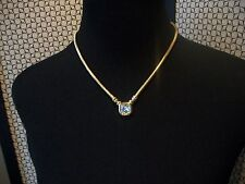 JOAN RIVERS Signed Necklace Goldtone 3 Changeable Pendants Crystal Faux Pearl