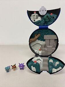 Pokemon Mini Playset Pokeball Ghost Micro Jakks Pacific 2010 Complete