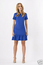 Womens Mini Dress Cocktail Casual Short Sleeve Tiered Tunic UK Sizes 8-12 FA311