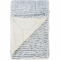 Beautiful VINCE CAMUTO Grey Tipped Fluffy Throw, Soft and Cozy, 127x152cm