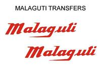 Malaguti Tank Transfers Decals Stickers Sold as a Pair Red