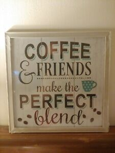 """Special Moments Hanging Wall Art """"Coffee & Friends Make The Perfect Blend"""" NEW!"""