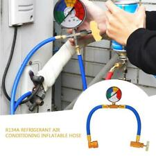R134A Recharge Measuring Hose Car Air Conditioning Refrigerant Adapter Gauge Kit