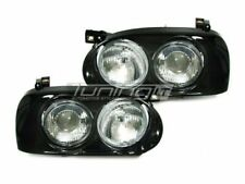 VW Golf MK 3 III 91-97 headlights twin front lights rounded double, RARE!