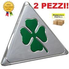 Adesivo adesivi Quadrifoglio Verde triangolo triangoli argento verde Alfa Romeo