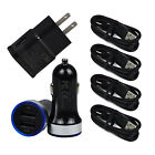 For HTC U12+ Bolt U11+ U11 Life Fast LED Car Wall Cell Phone Charger USB C Cable