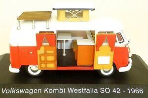 VW Bus Volkswagen Camper Westfalia SO42 1966 Atlas 1:43 OVP NEU Wohnmobil UE1 µ*