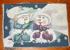 Frosty The Snowman Christmas Tapestry Pillow Top Fabric Piece
