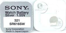 SONY 321 SR616SW V321 321 SR616SW WATCH BATTERY