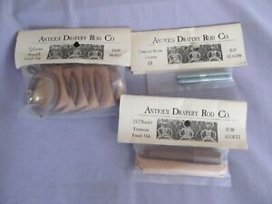 "Antique Drapery Rod co. 2"" curtain rings French Oak NIP"