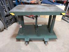New listing Lexco Hydralic Lift Table Wesco 30x48 2000 lbs. Lift Presto Die Cart