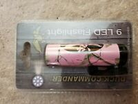 Duck Commander 9 LED Compact Flashlight, Realtree Pink Camo