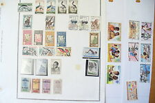 """LOT TIMBRES DES COLONIES """" NIGER-NIGERIA """" / PAGES CHARNIÈRES + 160 TIMBRES !!"""