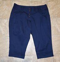 Adidas sz 8 Women's Climalite Capri Golf Pants Blue H4