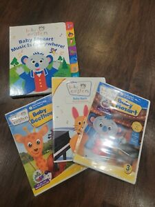 Baby Einstein 3 pack (Bach, Mozart, & Beethoven) and book.