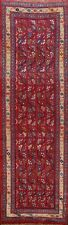 All-Over Semi Antique Mahal Runner Rug Wool Hand-knotted Oriental Carpet 2x8 RED