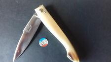 CAPUCIN ancien gd modèle POINTE CORNE Blonde Couteau 23 gravé Prénom