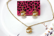 Betsey Johnson Fashion jewelry sets Enamel shell pendant earrings necklaces Y812